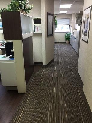 Inner office corridor